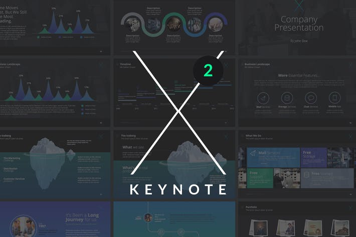 Thumbnail for X Note (VOL.02) - Keynote Template
