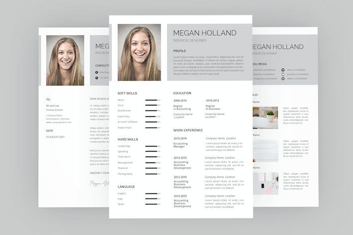 Thumbnail for Megan Resume Designer