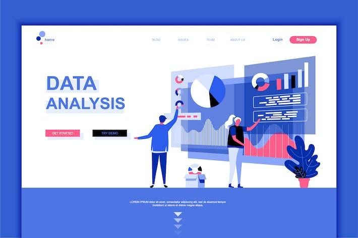 Thumbnail for Data Analysis Flat Landing Page Template