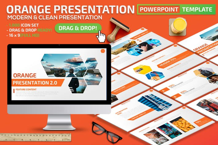 Thumbnail for Orange Powerpoint Presentation Template