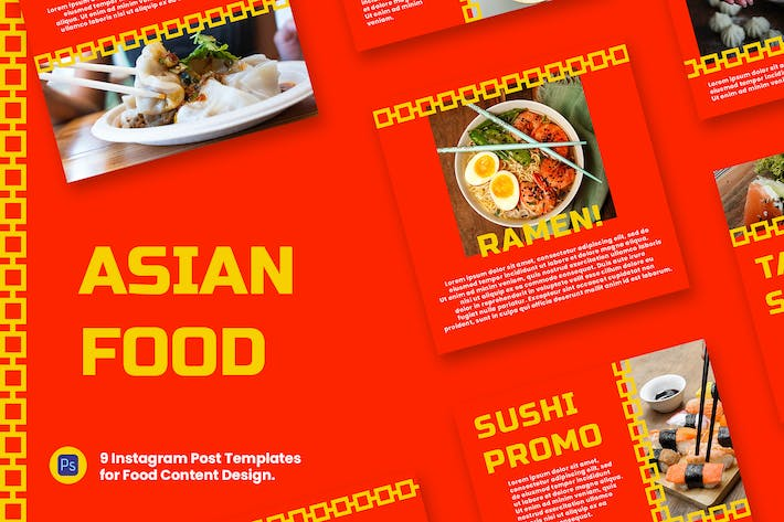 Thumbnail for Asian Food Instagram Post Template