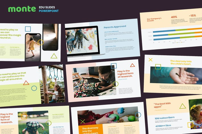 Thumbnail for Monte - Education Theme Powerpoint Template