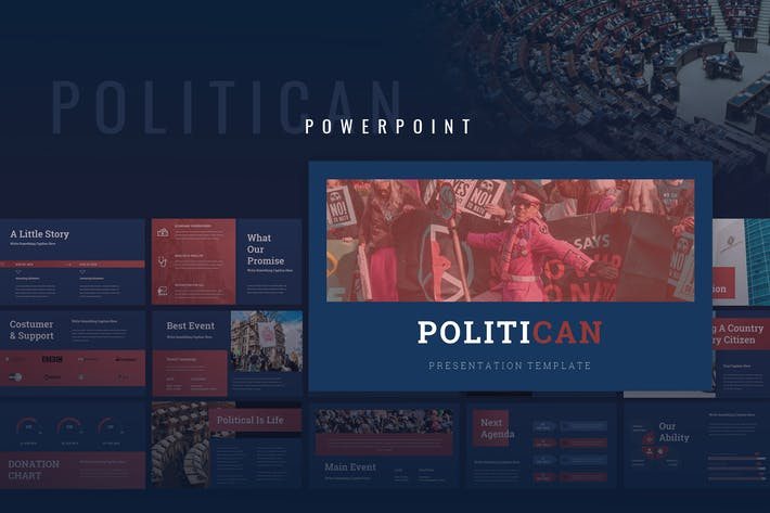 Thumbnail for Politican - Political Campaign  Powerpoint