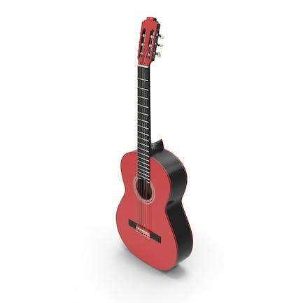 Red Black Multicolor Acoustic Guitar