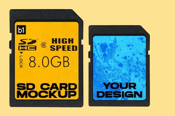 Thumbnail for SD Memory Card Mockup PNG