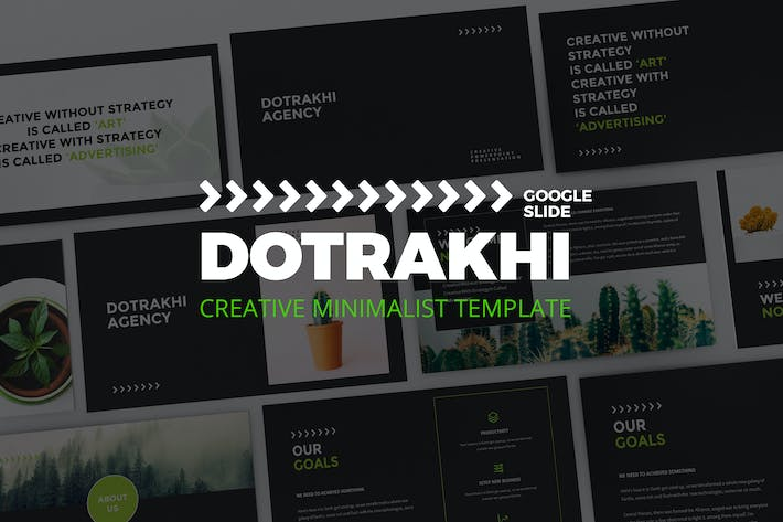 Thumbnail for Dotrakhi - Creative Minimal Google Slide Template