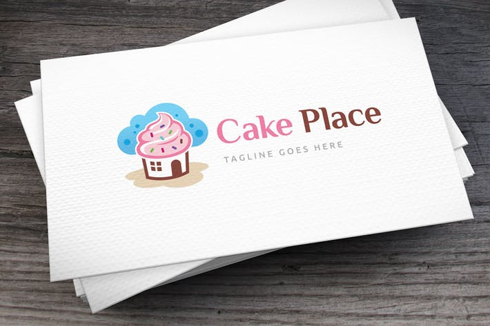 Cover Image For Cake Place Logo Template
