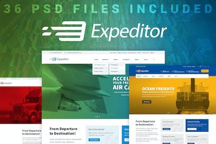 Expeditor - PSD Template