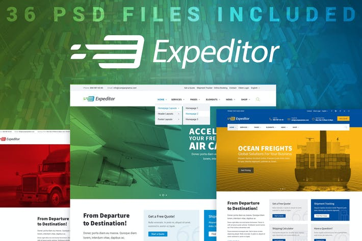 Thumbnail for Expeditor - PSD Template