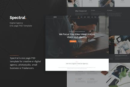Spectral - Creative Agency One Page PSD Template