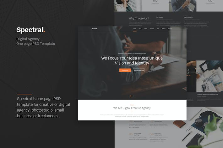 Thumbnail for Spectral - Creative Agency One Page PSD Template