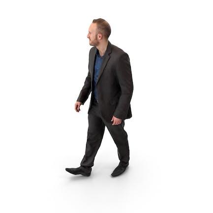 Hombre caminante posado