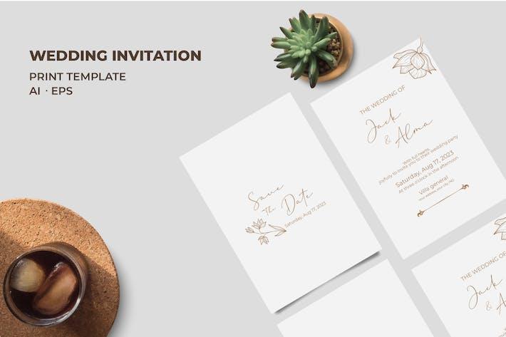 Thumbnail for Wedding Invitation QR12
