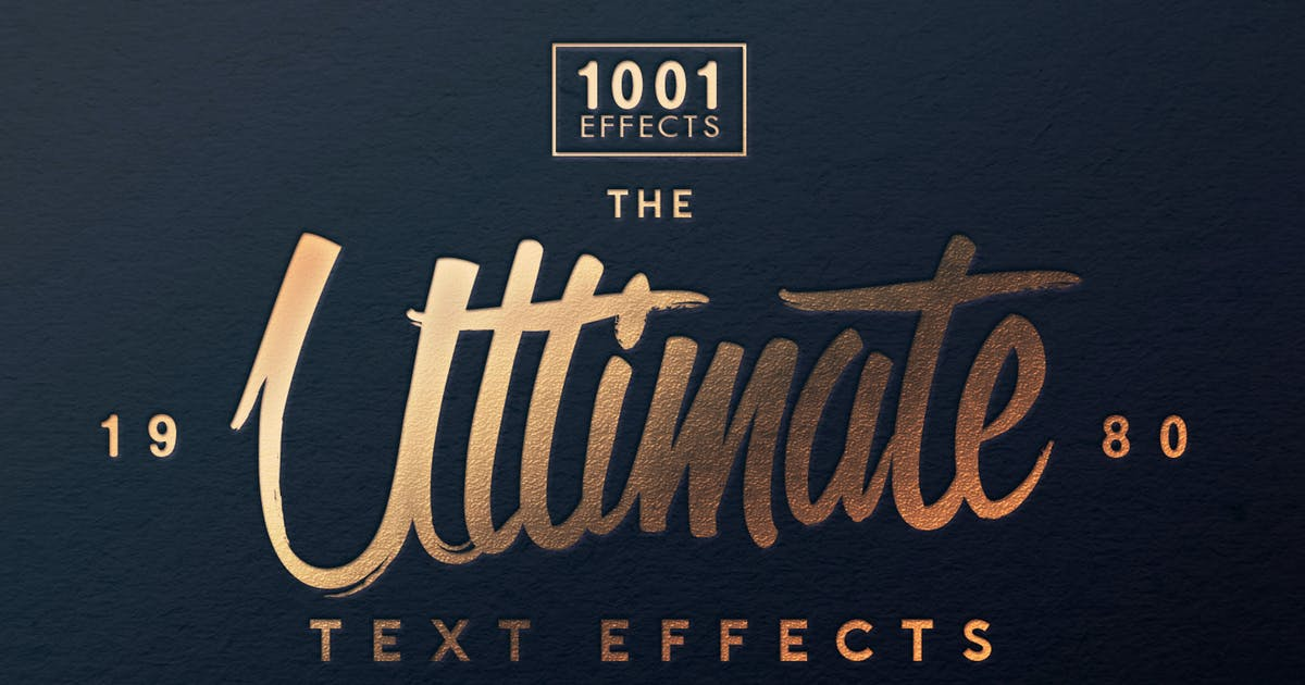 Download The Ultimate 1001 Text Effects by designercow