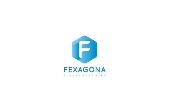 Thumbnail for F Letter-Hexagonal Logo