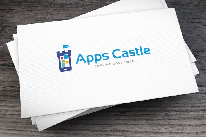 Apps Castle Logo Template