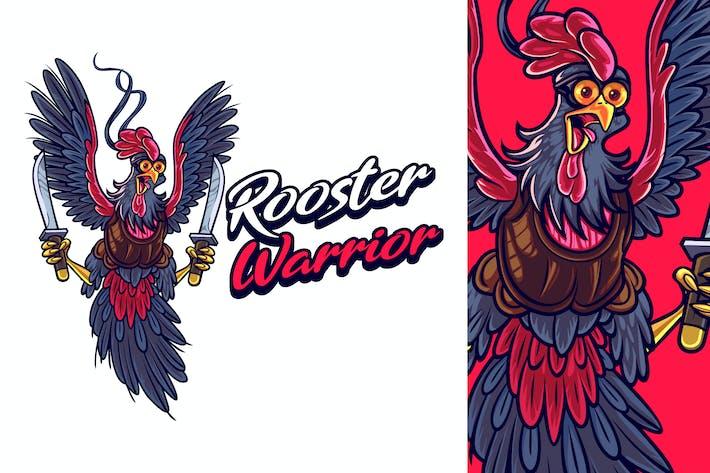 Thumbnail for Cartoon Ninja Rooster Mascot Logo