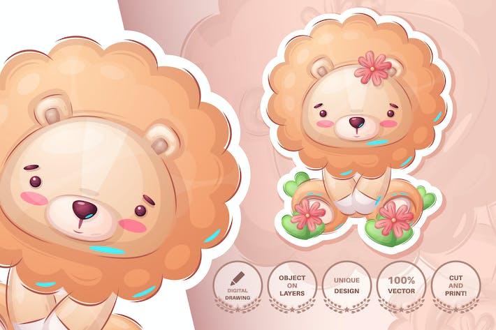 Cute childish lion