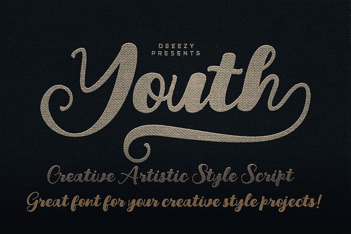 Thumbnail for Youth Script Font