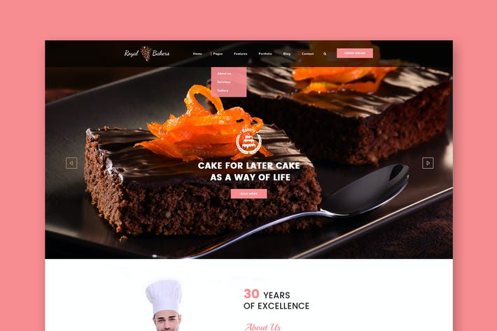 Thumbnail for Royal Bakers - Cakery PSD Template