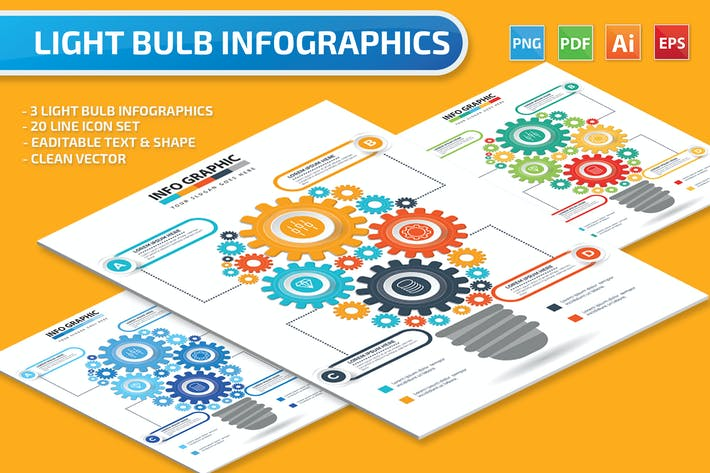 Thumbnail for Light Blue Infographics