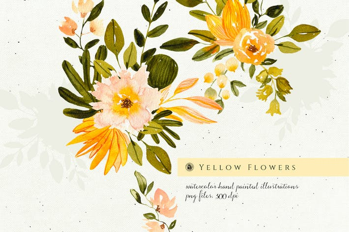 Thumbnail for Yellow Watercolor Flowers