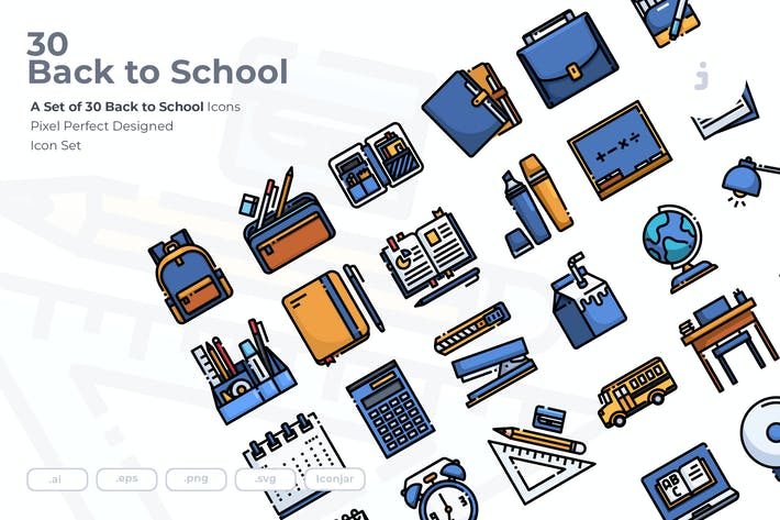 30 Back to School Icons