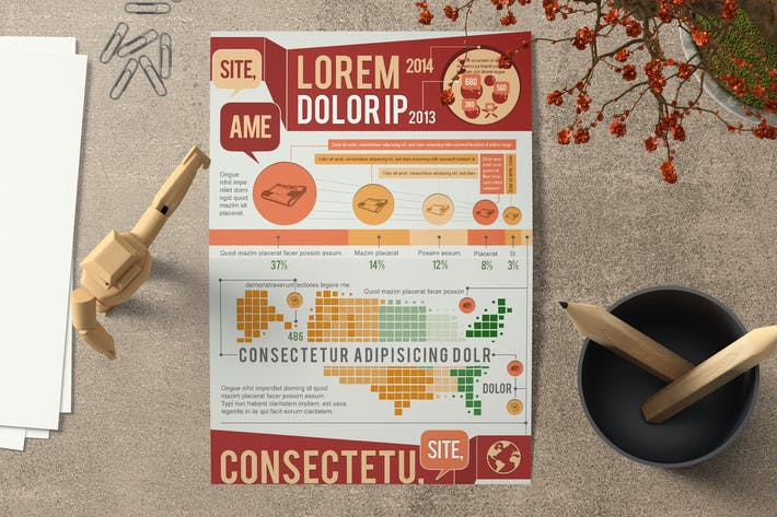 Thumbnail for Creative Infographics Template Set