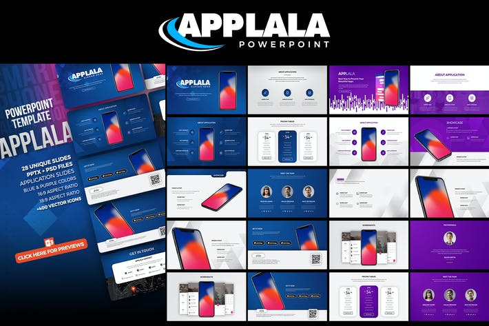 Thumbnail for Applala - Application Showcase PowerPoint Template
