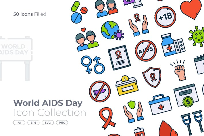 World AIDS Day Filled Icon