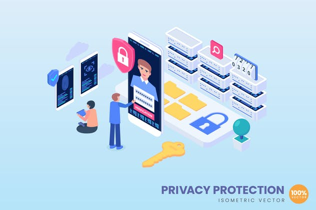 Privacy Protections Illustration Concept