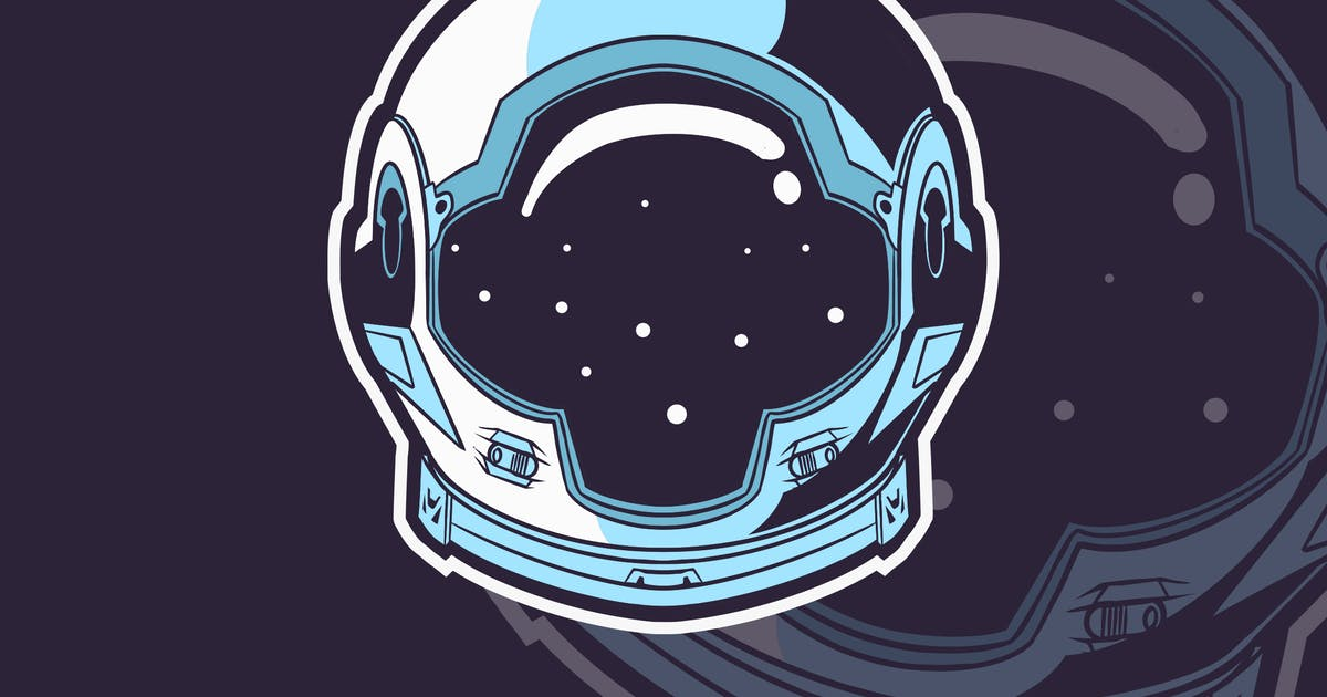 Download Astronaut Helmet Graphic Isolated by tombkick