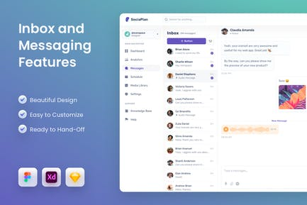 Inbox and Messaging Features UI Template