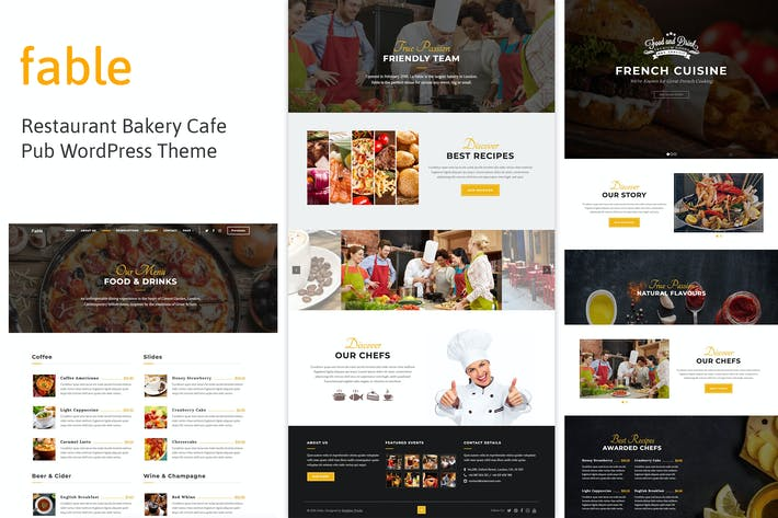 Thumbnail for Fable - Restaurant Bakery Cafe Pub WordPress Theme