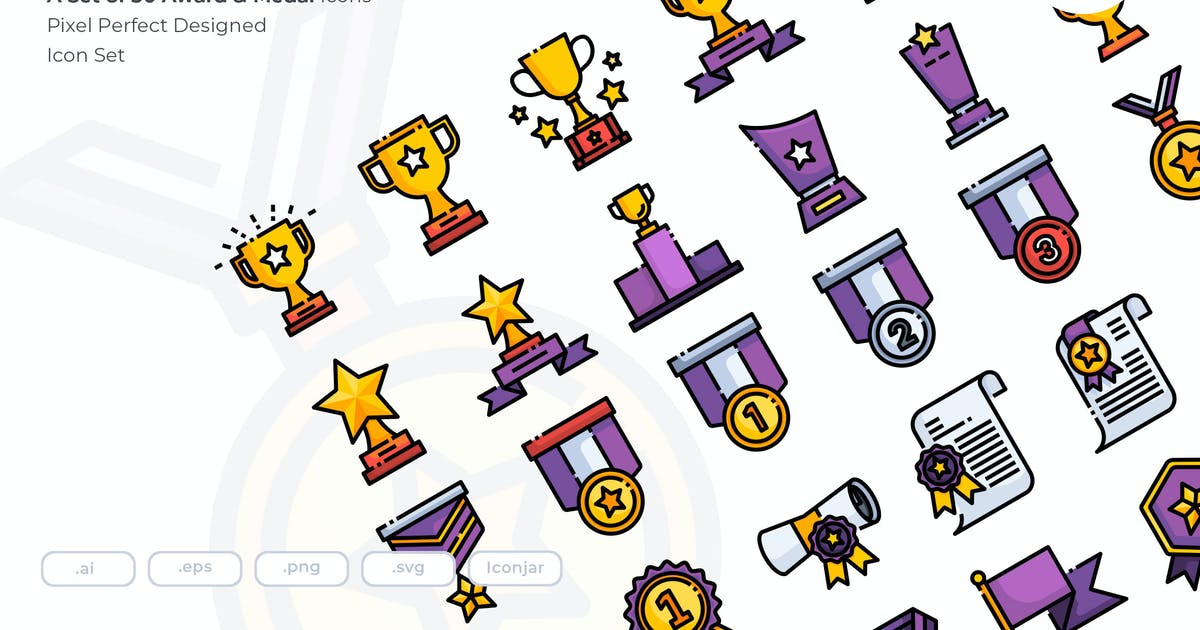 Download 30 Award & Medal Icons by Justicon