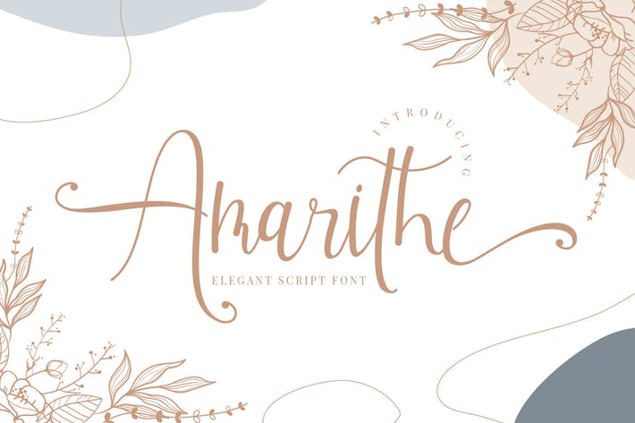 Amarithe - Элегантный шрифт