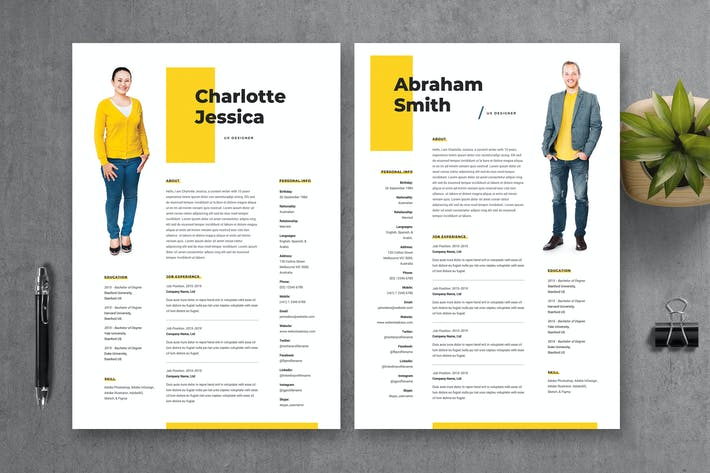 Thumbnail for Resume CV Template 18