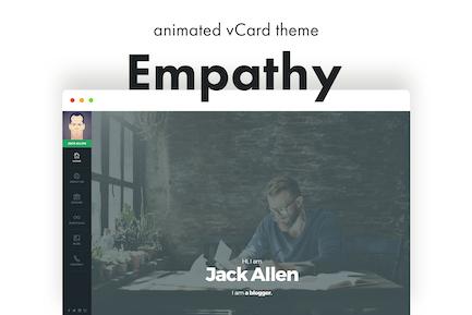 Empathy - Animated vCard WordPress Theme