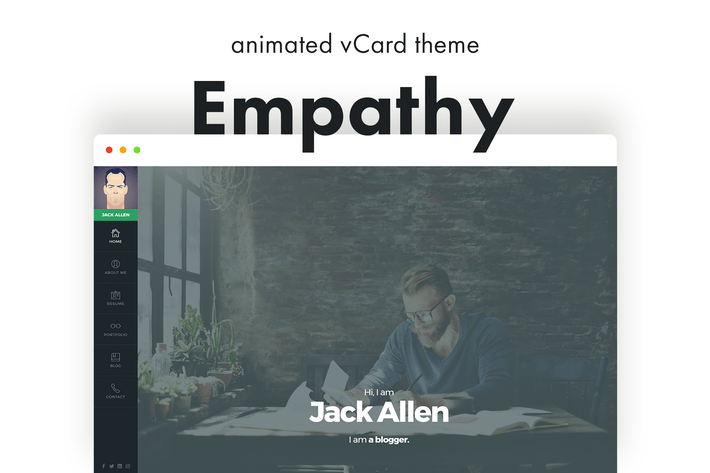 Thumbnail for Empathie - Animierte vCard WordPress Thema