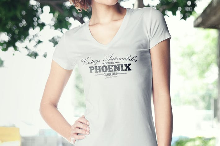 Thumbnail for Women T-Shirt Mock-up
