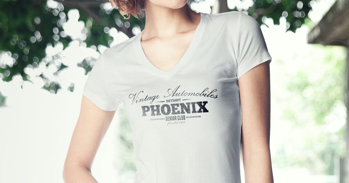Download Women T-Shirt Mock-up by gaidukdesign