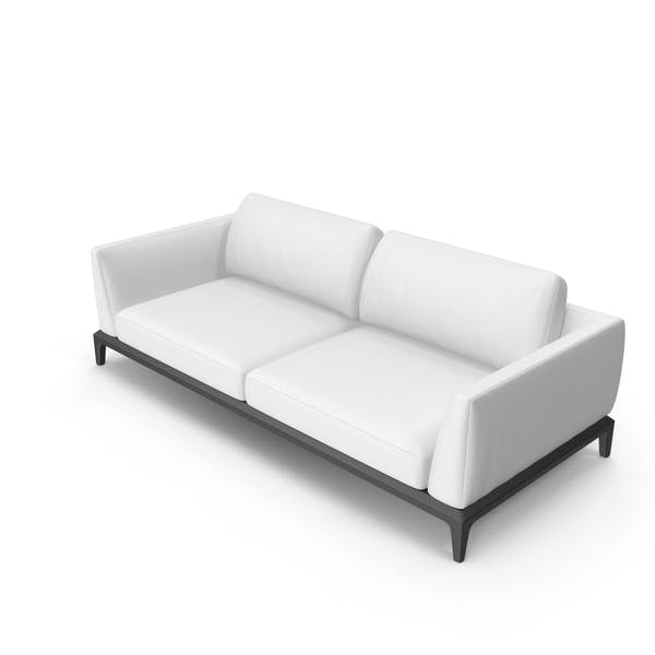 White Leather Office Sofa