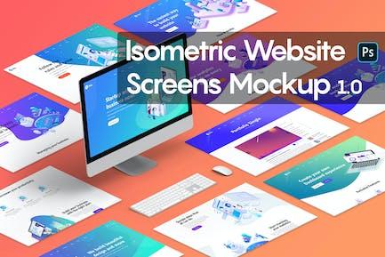 Isometric Website Mockup 1.0