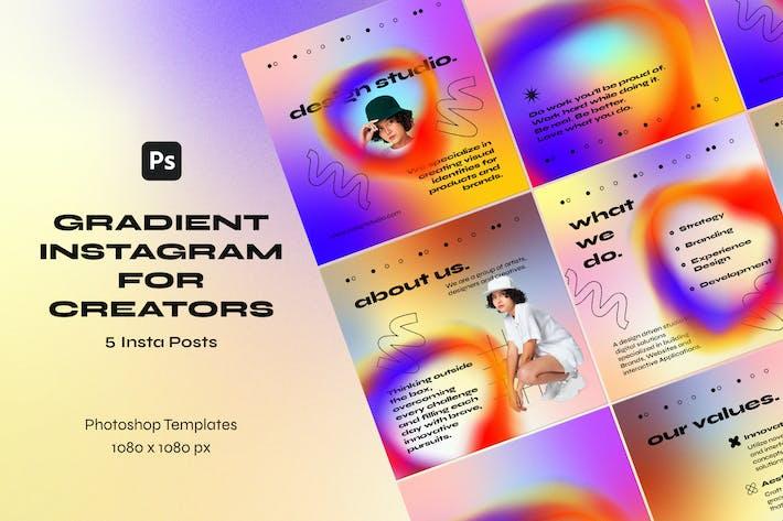 Градиентные Шаблоны Instagram для создателей