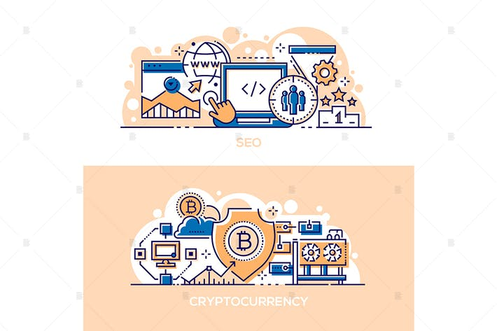 Thumbnail for SEO Business und Kryptowährung Banner