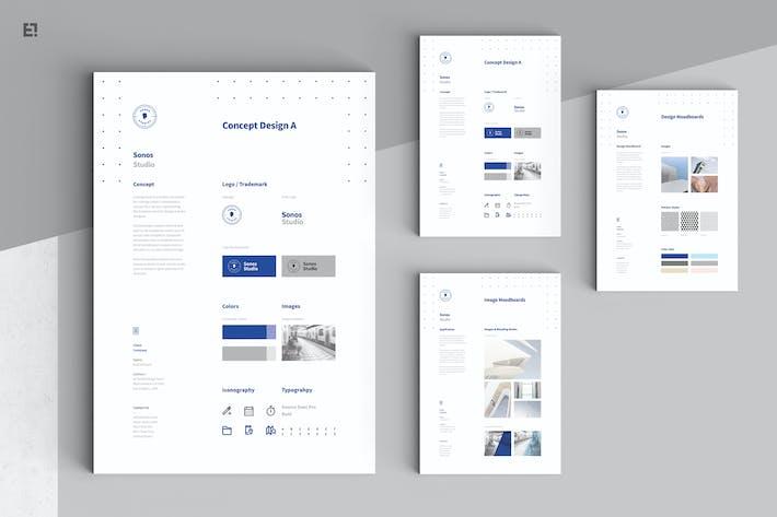 Thumbnail For Concept Design Mood Board Templates