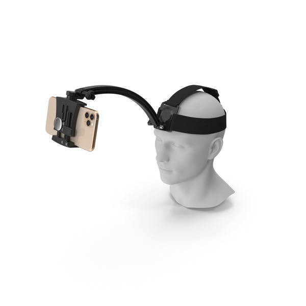Mannequin Head with Smartphone Holder