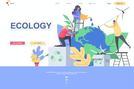 Modèle de page d'accueil Ecologie