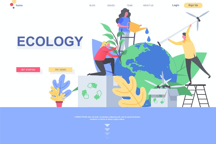 Ecology Landing Page Template