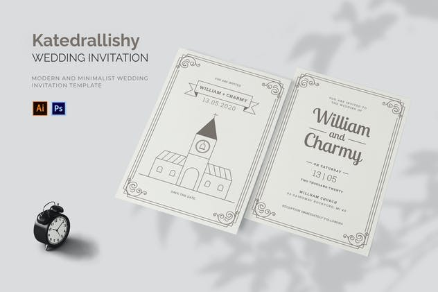 Katedrallishy - Wedding Invitation